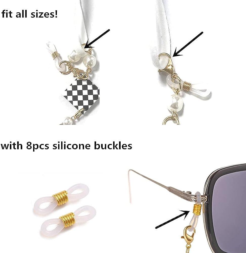 4PCS Gold Face Mask Holder Chains,Women Mask Lanyard Strap Eye Glasses Chain Sunglasses Holder Eyewear Retainer for Girl