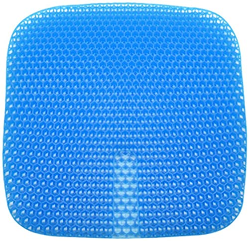 WDSZXH El último cojín del asiento del gel, el cojín del asiento del gel fresco transpirable, la silla de soporte lumbar transpirable almohadilla de la silla del cojín con la cubierta antideslizante p