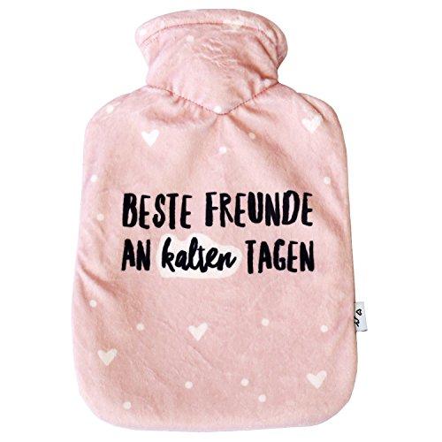 Odernichtoderdoch Wärmflasche | Beste Freunde an kalten Tagen | rosa Bezug