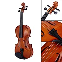 Mei-YY 電気バイオリン ブライトレッドオークウッド初心者バイオリン1/8バイオリン栃木バイオリン携帯用楽器音楽実用的な耐久性