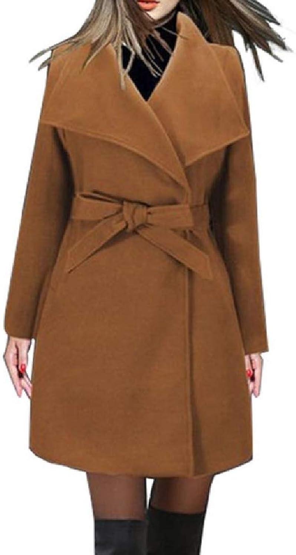 TaoNice Womens Premium Belted Fall Winter PlusSize Boyfriend Cardigan