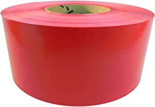 WOD BRC-RNP Barricade Caution Flagging Tape - 3 inch x 1000 feet - High Visibility Bright Red for Workplace Safety, Marking Boundaries & Hazardous Areas, Non-Adhesive & Heavy-Duty