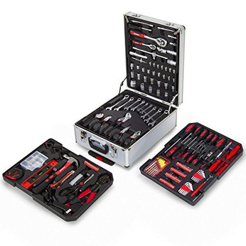 Greencut TOOLS-416 - Tool set (416 parts), aluminum case with wheels, trolley with telescopic handle, chrome vanadium steel tools