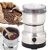 BALLSHOP Elektrisch Kaffeemühle Kaffeebohnen Nüsse Gewürze Getreide Mühle mit Edelstahlmesser 50g Fassungsvermögen