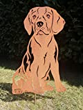 Gartendeko Fockbek Metallfigur Rostfigur Hundefigur Hund Deko Höhe ca. 60 cm (Beagle) Rostfigur Gartenstecker Rostedeko