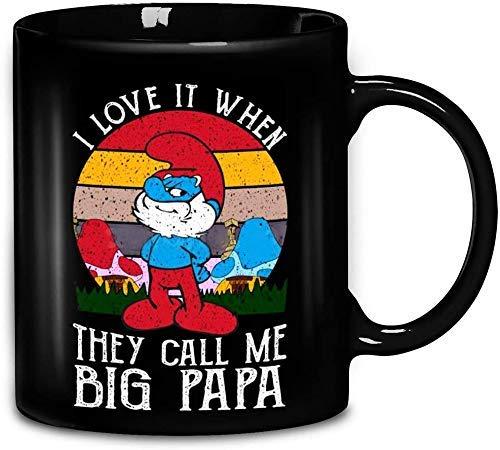 N\A Lustige Vintage Sonnenuntergang die Schlümpfe Ich Liebe es, wenn sie Mich große Papa Keramik Kaffeetasse Teetassen Mugreeva Tasse nennen