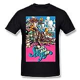 JoJo's Bizarre Adventure Soft Mens Tops Camisetas de manga corta Negro