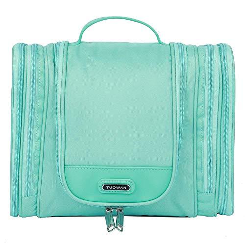 EGOGO Cosmetic Bag Appendere Borsa da Toilette Beauty Case da Viaggio, Borsetta da Bagno Organizer Multi Tasche per Uomini Donne E528-5 (Verde)