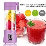 XZANTE 500 Ml Port/átil Vaso de Exprimidor USB Recargable Electrico Automatico Herramientas de Jugo de Frutas Verduras de Bingohacedor Vaso Botella de Mezclador de Licuadora Azul