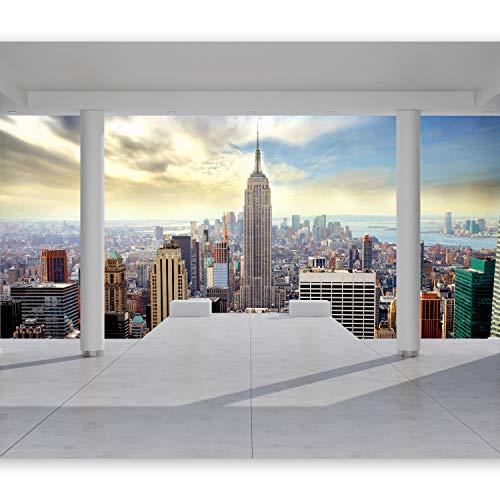 murando Fotomurales 350x256 cm XXL Papel pintado tejido no tejido Decoración de Pared decorativos Murales moderna de Diseno Fotográfico ciudad New York Arquitectura 10110904-35