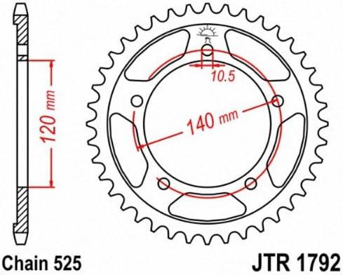 JT Steel Rear Sprocket 47T 525 JTR1792.47