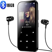 16GB MP3 Player with Bluetooth 4.2, Portable HiFi Lossless Sound MP3 Music Player with FM Radio Voice Recorder E-Book 2.4'' Screen, Support up to 128GB