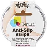 Maddak Tenura Clear Self-Adhesive Non-Slip Bath and Shower Safety Strip, 9-4/5' Roll (724860001)