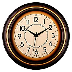 Bekith 12 inch Classic Clock Non Ticking Silent Wall Clock Decorative Quartz Battery Operated - Modern Style Wall Clocks for Living Room, Kitchen, Bedroom