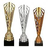 tecnocoppe Tris Coppe economiche h 34,00 32,00 30,00 cm Premiazioni Sportive Targhetta Personalizzata Omaggio