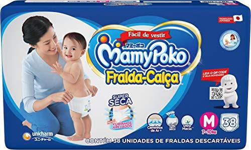Fralda-Calça MamyPoko Tamanho M, 38 unidades
