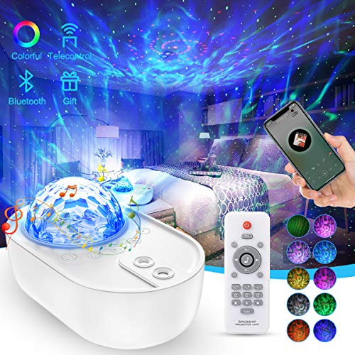 Star Projector Night Light, EnBrilite Galaxy Projector with Bluetooth Speaker White Noise Remote Control, Galaxy Light Projector for Bedroom, Celling, Kids, Party, Home Decor