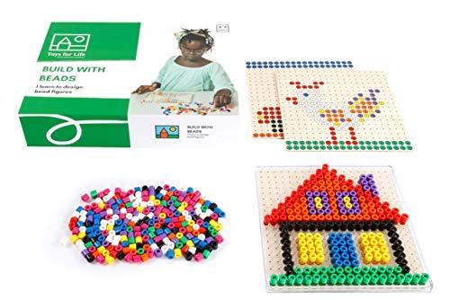 Toys for Life | bauen mit Perlen | Lehrmaterialien Technologie & Technik | Motorische Fähigkeiten | Ab 36 Monate | Bis 84 Monate, farbskala