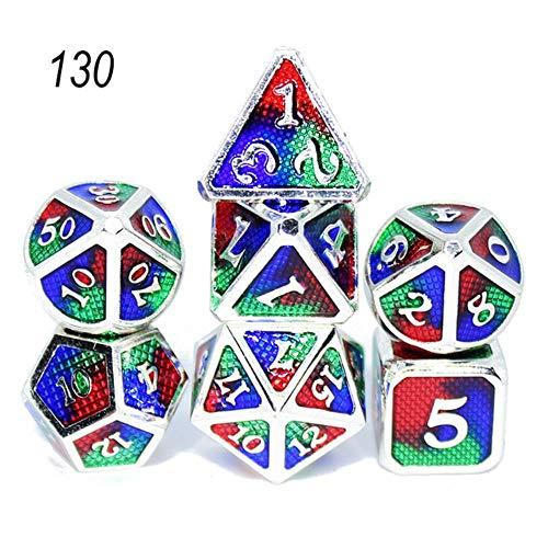 Coner Dice polyhedral sets metal dice game table games Zinc alloy Light Pink dices digital pattern d20 d10 d8 d12 d6,130