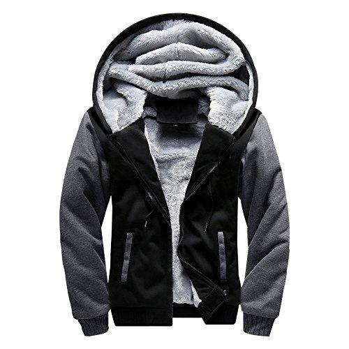 ASALI Men's Pullover Winter Jackets Hooed Fleece...