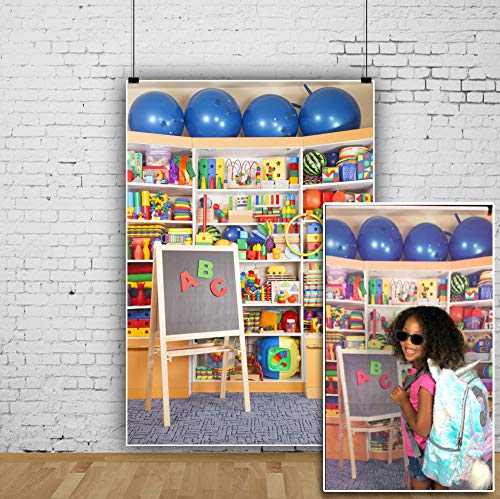 OFILA Kids Online Class Backdrop 3x5ft School Pictures Photography Background ABC Backdrop for Online Teaching VIP Kids Backdrop Virtual Classroom Photos Preschool Graduation Photos School Day Photos