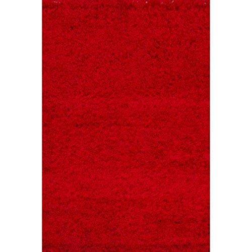 NAZAR - Trendy Tapis Shaggy Rouge 80 x 140 cm