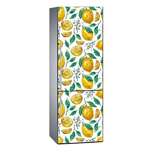 Oedim - Vinilo para Frigorífico Impresión Digital Impresión Digital Limón y Flores de Azahar 185x70cm | Adhesivo Resistente y Económico | Pegatina Adhesiva Decorativa de Diseño Elegante