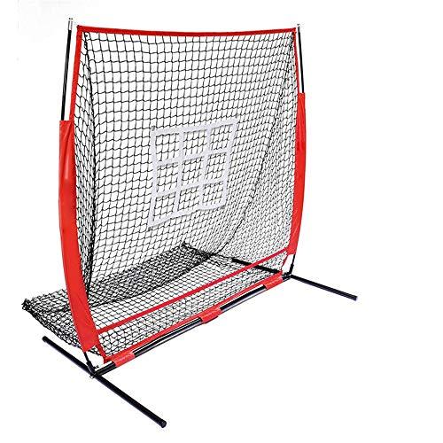 Rete protettiva da baseball per softball Portatile 150x150cm Baseball e Soft Pitching Net con Colpire zona colpire Batting Catching Trainng Net e Rebounder ( Colore : Rosso , Dimensione : 150x150cm )