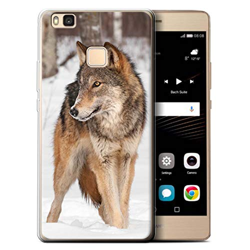 eSwish Custodia/Cover/Caso/Cassa Gel/TPU/Prottetiva Stampata con Il Disegno Animali Selvatici per Huawei P9 Lite (2016) - Lupo