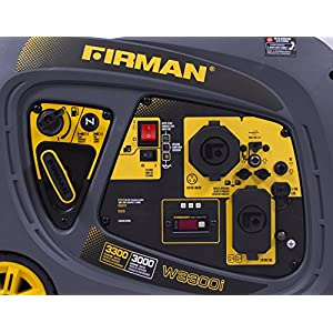 Firman W03083 Whisper Series 3000/3300 Watt Inverter Generator, Yellow