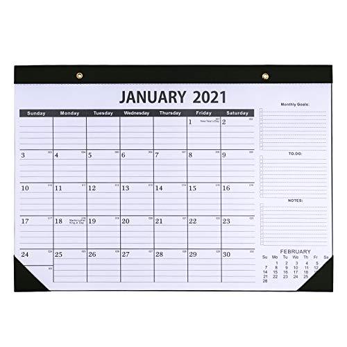 Dizdkizd 2021-2022 Desk Calendar Large Monthly Desktop Calendars with Julian Date 17x12 Big Desk Pad for Home Office Supplies