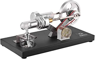 STARPOWER Hot Air Stirling Engine Motor Model Electricity Power Generator (Light up LED) Experiment Educational Toy Gift