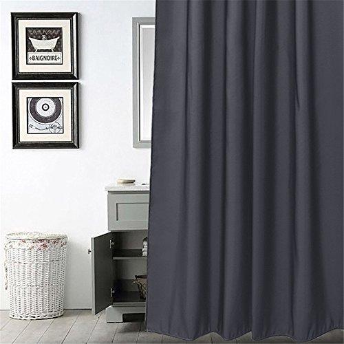 MIWANG Le gris foncé des rideaux de douche, salle de bains nordiques de rideau de douche wc rideaux Rideaux tissu mural étanche résistant à la moisissure d'épaisseur, de largeur 200cm* 180cm de hauteur (Hook)