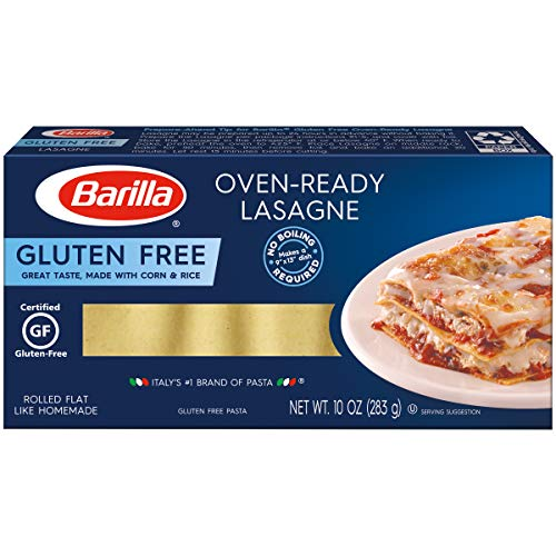 BARILLA Gluten Free Oven-Ready Lasagne, 10 Ounce (Pack of 12) - Non-GMO Gluten Free Pasta Made with Blend of Corn & Rice - Vegan Pasta