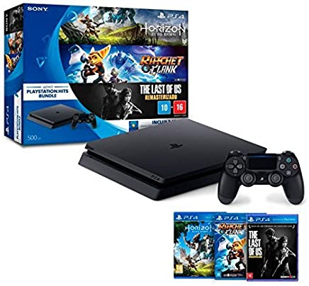 Console PlayStation 4 - Slim 500GB - Hits Bundle v1