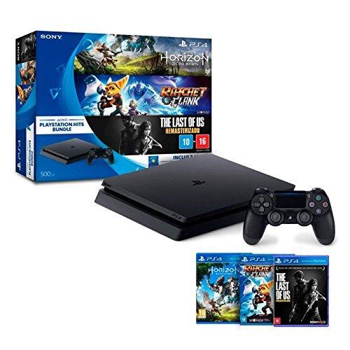 Console PlayStation 4 - Slim 500GB - Hits Bundle v1