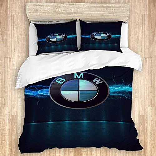 YZBEDSET Bettwäsche-Set,BMW Logo HINTERGRUNDBILDER,1 Bettbezug 135 X 200cm+2 Kopfkissenbezug 50 * 80cm