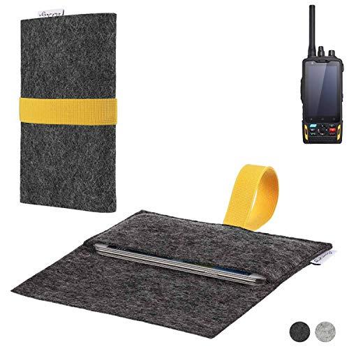 flat.design Handy Hülle Aveiro für Ruggear RG760 passgenaue Filz Tasche Case Sleeve Made in Germany