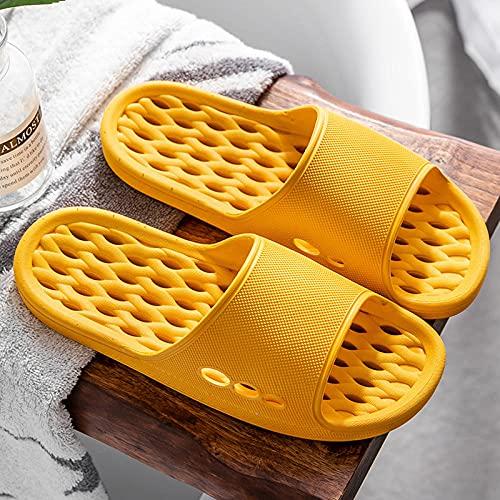 QPPQ Zapatillas de baño de Verano,Cómodas Zapatillas de baño en Verano, Suaves Sandalias Antideslizantes para Hombre y Mujer.-Amarillo_40-41,Verano Piscina Pantuflas