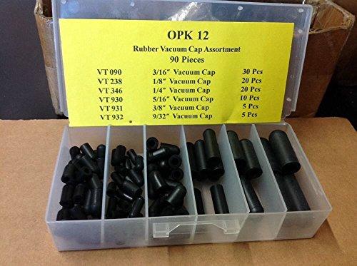 Technicians Choice OPK12 Rubber Vacuum Cap Assortment (90 Pcs / 6 Sizes)
