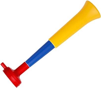 FUN FAN LINE - Pack x3 Trompetas Vuvuzela Dos cuerpos. Accesorio para fútbol y Celebraciones Deportivas. Bocina de Aire ruidosa para la animación Ideal para Transportar. (España): Amazon.es: Deportes y aire libre
