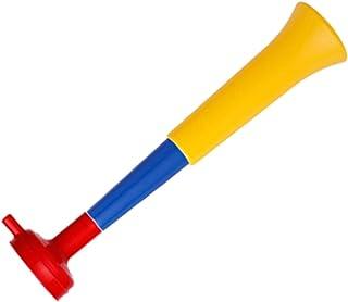 FUN FAN LINE - Pack x3 trompettes en Plastique Vuvuzela. Accessoire pour Le Football et Les célébrations Sportives. Averti...