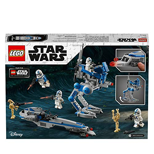 LEGO 75280 Star Wars 501st Legion Clone Troopers Set with Battle Droids and at-RT Walker