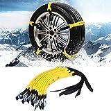 Catene da Neve Emergenza, 10pcs 185-225mm Cintura Antiscivolo per Pneumatici Catene per Pneumatici di Sicurezza per Auto da Neve Universale per SUV per Camion