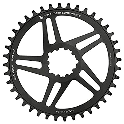 Wolf Tooth Direct-Mount Drop-Stop Chainring for RaceFace, SRAM, S-Works, and Cannondale Cranks (30t, SRAM GXP)