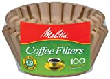 Melitta Basket Coffee Filters Natural Brown Unbleached 100 Count