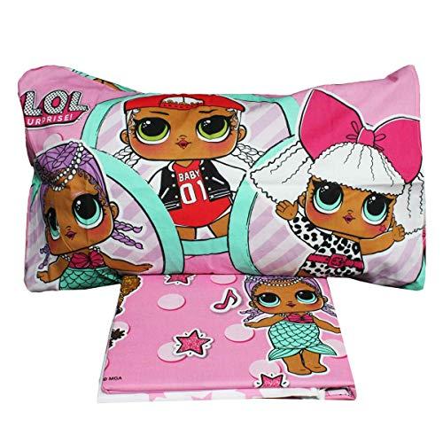 Russo Tessuti LOL Surprise Hip Hop - Juego de sábanas para cama individual, color rosa