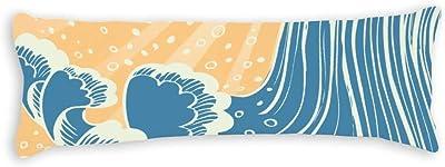 CiCiDi Seitenschl/äferkissen Kissen-Bezug 40x145 cm Benutzerdefinierte Flamingos Muster Atmungsaktives Kissenh/üllen mit Rei/ßverschluss Baumwollen und Polyester