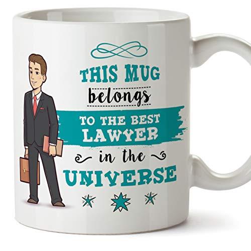 Mugffins (Tasse auf Englisch) Rechtsanwalt-ursprüngliches Bechercup Becher gehört dem besten Rechtsanwalt im Universum - 11 Unze keramisch