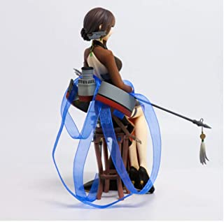 Wwwx Anime Warship Girl Yixian Cruiser Long Cheongsam Charming Sitting Girl PVC Movable Doll Model Toy 20Cm